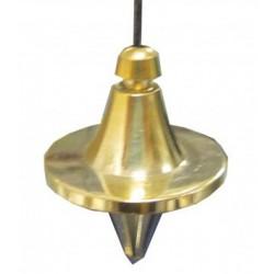 Pendule toupie métal doré