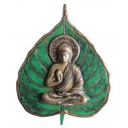 Bouddha feuille verte