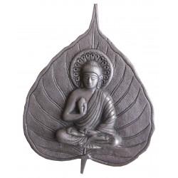 Bouddha feuille argentée