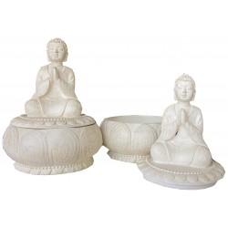 Boite ronde lotus Bouddha