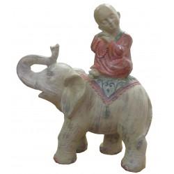 Moine sur éléphant