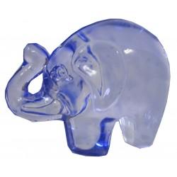Petit éléphant verre bleu