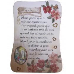 """Magnet poème """"ma soeur"""" NDL"""