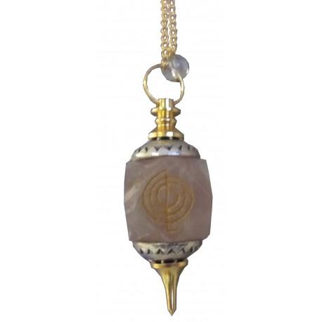 "Pendule octogonal améthyste ""CHO KU REI"""