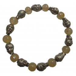 Bracelet Bouddha pierre citrine