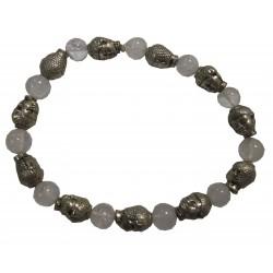 Bracelet Bouddhas pierre cristal de roche