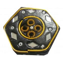 Porte encens hexagonal noir