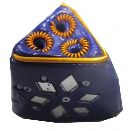 Porte encens triangulaire violet