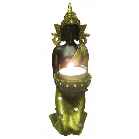 Bouddha à genoux porte bougie