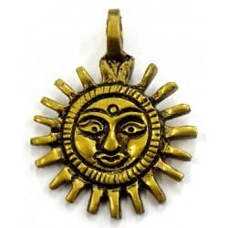 Pendentif soleil doré