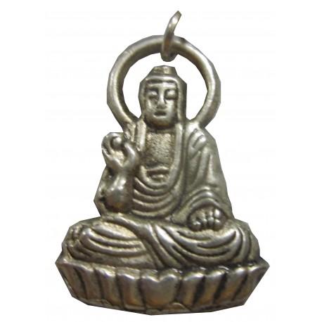 Pendentif Bouddha argenté